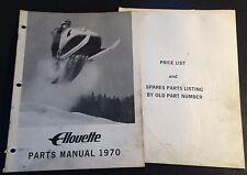 VINTAGE 1970 ALOUETTE SNOWMOBILE PARTS MANUAL 24 PAGES  (930)