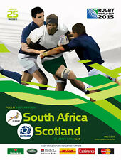SOUTH AFRICA v SCOTLAND RUGBY WORLD CUP 2015 OFFICIAL PROGRAMME. 3 Oct Newcastle