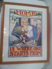 """Mary Engelbreit """"Home Is Where One Starts From� Large 17"""" x 21"""" Framed Print"""