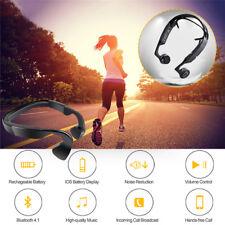 Bluetooth Handsfree Wireless Bone Conduction Headset  Sports Headphones With Mic