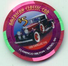 FLAMINGO HILTON RENO 1930 CADILLAC V16   $5 CASINO CHIP