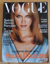Vogue Paris ~ #770 September 1996 ~ Amber Valetta Jeanloup Sieff Laetitia Casta