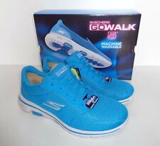 Skechers Mujer Go Walk 5 Azul con Cordones de espuma de memoria Zapatillas Zapatos Nuevos Tamaños 3-7