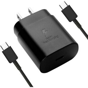 Original Samsung 25W Super Fast Charger w/ cable EP-TA800 ECB-DG977 S21+ Note 20