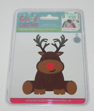 RED NOSE REINDEER CUTE CHRISTMAS CRAFTERS COMPANION DIE SET