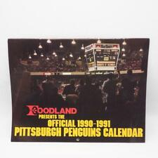 Vtg Pittsburgh Penguins Heinz NHL Hockey Official Team Calendar 1990-91 Lemieux