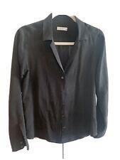 equipment Femme Silk Black Blouse Size Small