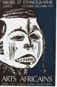 Original vintage poster AFRICA ART SCULPTURE EXPO GENEVA 1973