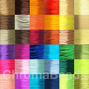 Rattail Satin Cord 2mm, Choose colour/length, silky nylon kumihimo braid macrame