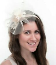 New Ladies Outdoor Occasion Wedding/Races Fascinator Style F3440 Nude