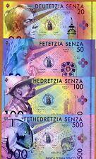 SET, D'Sima Senko, 20-50-100-500 Senza, Fantasy, 2016, POLYMER