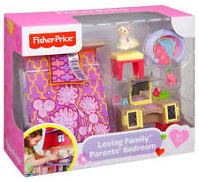 NEW Fisher Price Loving Family Parents Bedroom Dollhouses Comfort Toys Furniture