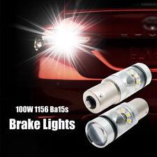 2X 100W 1156 BA15S CAR WHITE GLOBE LED BRAKE REVERSE TURN STOP TAIL LIGHT BULBS