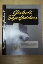 Vtg Gisholt Machine Co Catalog~Superfinishers~Lathe Tool Catalog~Madison WI