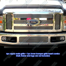Fits 2008-2010 Ford F-250/F-350/ Super Duty Billet Grille Combo