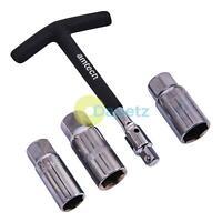 4Pc T Bar Spark Plug Wrench Set Amtech Removal Tool Socket Mechanics 16 18 21mm