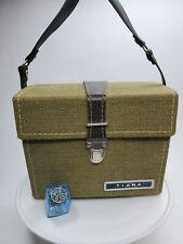 Tiara Vintage Camera Case American Tourister Army Green Camera Bag or Hand Bag
