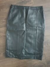 Next Black Faux Leather Pencil Skirt Size 10