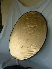 Interfit Round 42 Inch Folding Photo Studio Reflector Gold White Back