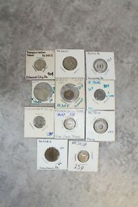10 Transportation Tokens Circulated Lot - Pennsylvania Old Collection #4