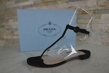 luxus PRADA Gr 38,5 Zehenschuhe Sandalen 1Y474G Schuhe schwarz NEU UVP 490 €