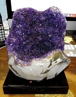 AMETHYST CRYSTAL CLUSTER  GEODE FROM URUGUAY CATHEDRAL GEODE LIKE HOLLOW