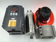 1.5KW Water-cooled ER11 Spindle Motor AC 110V &1.5KW VFD&Bracket&Pump Kit