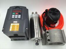 1.5KW ER11 MOTORE MANDRINO raffreddato ad acqua AC110V & 1.5KW VFD & STAFFA & Kit Pompa