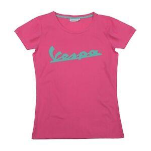 Genuine Official Vespa Logo Ladies Womans XL T-Shirt Pink Tee New