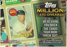2009 Topps Million Card Giveaway - #TMC-5 - MICKEY MANTLE - New York Yankees