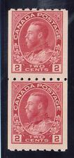Canada #124 Never Hinged Mint Coil Pair