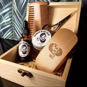 Beard Grooming Kit Gift Set - Beard Balm | Oil | Brush | Comb | Scissors