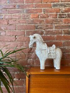 """Aldo Londi """"Cavello"""" (Horse) Italian Ceramic Sculpture, Circa 1960s"""