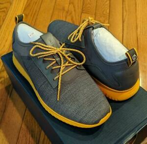 $180 Mens Cole Haan Grand Motion Textile/Leather Sneakers Gray/Gold US 10