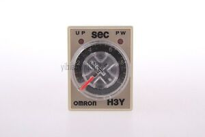New AC 110V 5A H3Y-4 H3Y Delay Timer Time Relay 0-10 Second 10s & Base