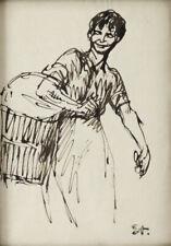 Theophile Alexandre Steinlen (Switzerland 1859-1923) Works on Paper Woman