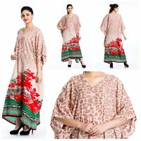 Maxi Dress Boho Kaftan S 3x Taj Mahal Cover Printed Up Animal M L 1x 2x Paisley