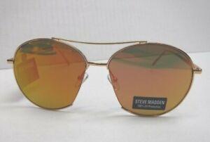 Steve Madden Womens Sunglasses Rose Gold Metal Frame 100% UV