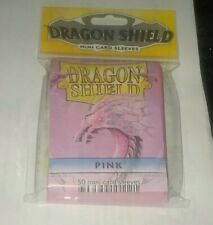 Dragon Shield Sleeves: Pink (50) - Mini Size Yu Gi Oh Sized Sealed Pack