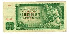 Europa Geld Banknote Geldschein Tschechoslowakei CSSR 100 Kronen 1961