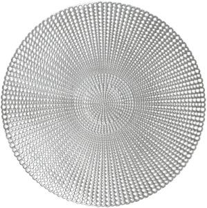"Wintop 16"" Round Vinyl Metallic Placemats Hollow Out Design, Set of 6, Gradual R"