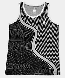 Nike Jordan Basketball Tank Top Boy's Medium Black/Gray/White 953232 Jumpman