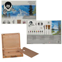 Bob Ross Master Oil Paint Set w/ Bundle Options for Easel Canvas or Sketch Box