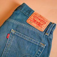 Levi 514 Jeans Blue Straight Zip Fly Vintage Men's (LabelW30L30) W 30 L 30