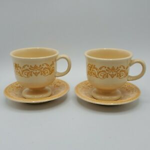 Set of 2 Franciscan GINGERSNAP Coffee cup & Saucers NICE**