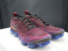 Nike Air Vapormax Flyknit 2 Mens 942842-006 Team Red Blue Running Shoes Size 12