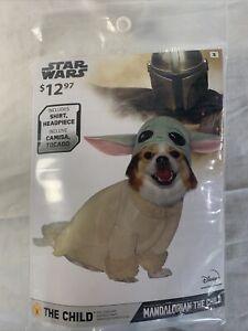 Disney BABY YODA Star Wars The Child Mandalorian Pet Dog Costume - Size Small