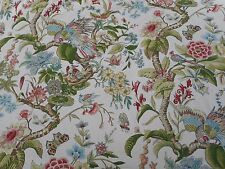 Schumacher Curtain Fabric 'CRANLEY GARDENS' 2.2 METRES Document - 100% Cotton