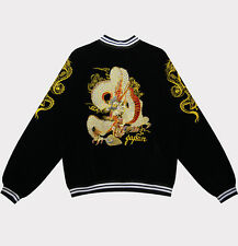 Vintage Dragon EMBROIDERED VELVET JAPAN SOUVENIR BOMBER SUKAJAN JACKET PUNK