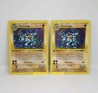 Pokemon Machamp Holo x2 - First Edition Shadowless - 8/102 - 1st Ed Base Set